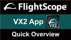 Video explaining the features of the FlightScope launch monitor / golf ball tracker VX2 app.