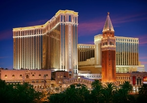 Photo of the Venetian Hotel where FlightScope will be exhibiting its launch monitors as part of the PGA Fashion & Demo Experience.