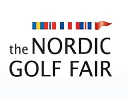 Logo of The Nordic Golf Fair where FlightScope will be exhibiting its launch monitors / golf ball trackers.