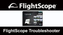 Photo of the FlightScope Troubleshooter which helps FlightScope technicians fix FlightScope launch monitor / golf ball tracker issues.