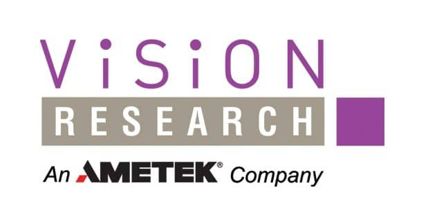 Logo of Vision Research which FlightScope partnered with to bring slow-motion video capture to its launch monitors line.