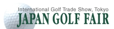 Logo of the Japan Golf Fair where FlightScope will be exhibiting its launch monitors / golf ball trackers.