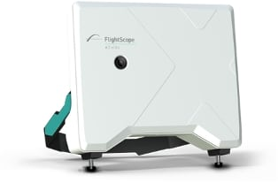 Product photo of the FlightScope X2 Elite launch monitor / golf ball tracker for professionals.