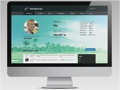 Video encouraging FlightScope users to join the MyFlightScope community to track their progress, review challenges, and check rankings.