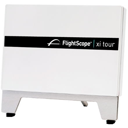 Product photo showing the front panel of the FlightScope Xi Tour launch monitor / golf ball tracker.