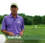 PGA Professional Todd Kolb showing how he maximizes the FlightScope X2 Elite launch monitor's portability in his lessons.