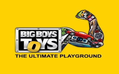 Logo of Big Boys Toys Show where FlightScope will present the FlightScope Xi Tour and X2 Elite launch monitor / golf ball trackers.