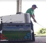 Video of Todd Kolb demonstrating how to use FlightScope launch monitors / golf ball trackers to improve swing and maximize distance.