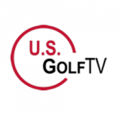 Logo of US Golf TV where Todd Kolb demonstrates how to use FlightScope launch monitors / golf ball trackers to cut strokes.