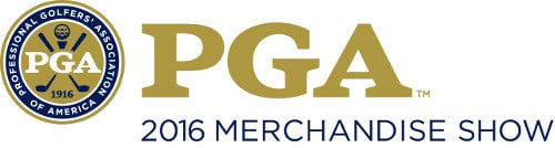 Logo of the PGA 2016 Merchandise Show where FlightScope will be opening the registration for its redesigned FlightScope Academy.