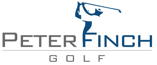 Logo of Peter Finch Golf, one of the many users of FlightScope launch monitors.