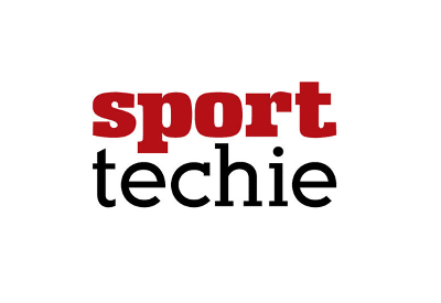 Logo of SportTechie which recently featured FlightScope's baseball radar tracking technology, FlightScope Strike.