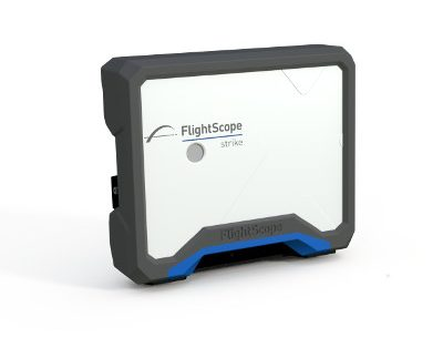 Product photo showing FlightScope's baseball radar tracking technology, FlightScope Strike.