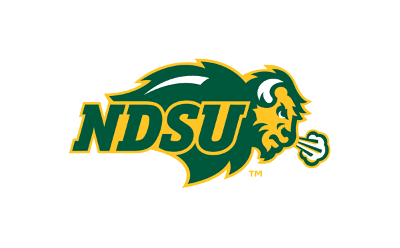 Logo of North Dakota State University, one of the golf teams that use FlightScope launch monitors in their practice sessions.