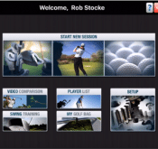 Photo showing the home page of the FlightScope VX app.