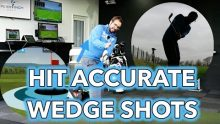 Video of Peter Finch showing golfers how to use FlightScope launch monitors to help improve the accuracy of wedge shots.