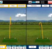 Screenshot showing how to use FlightScope golf ball trackers to get more distance with a driver.