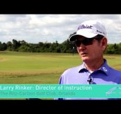 Larry Rinker talks about how he combines Flightscope launch monitors with the Focus Band to prepare students for a favorable shot.