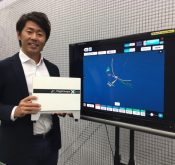 Flightscope launch monitor user Shinobu Ishii giving a testimonial for Flightscope Xi Tour