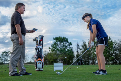 Top Golf teacher Brad Brewer talks about how Flightscope's Focus Band help improve game performance