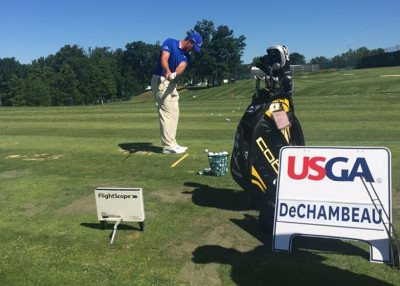 Bryson DeChambeau talks about how he and Coach Mike Schy use Flightscope launch monitors to prepare for competitions.