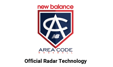Logo of Area Code Baseball which chose Flightscope launch monitors as their official radar tracking technology