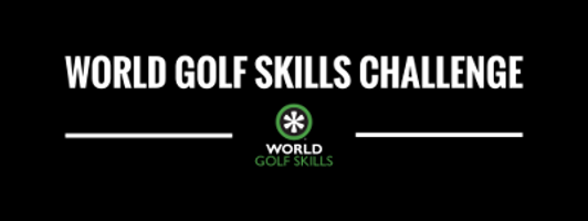 Photo promoting the World Golf Skills Challenge where Flightscope launch monitors will be featured.
