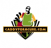 Logo of Caddyforacure.com, Flightscope's partner in a golf charitable program