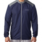 Product photo showing a blue men's windbreaker Flightscope jacket from the Flightscope store