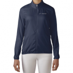Product photo showing a navy blue women's windbreaker jacket from the Flightscope store