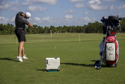 Photo showing Flightscope user Joe Miller becoming the World Long Drive champion for the second time