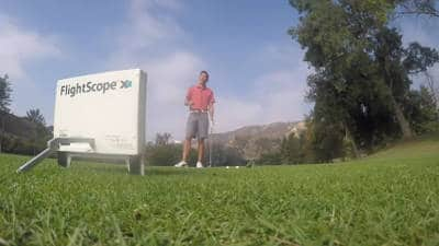 Flightscope Xi user Zach Allen demonstrates how to use Flightscope launch monitors to gain more distance