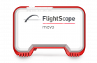 Photo showing the front panel of Flightscope's portable launch monitor, Mevo