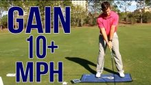 Video tutorial featuring Chris Tyler demonstrating how to use Flightscope launch monitors to add speed to golf swings