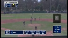 Video showing stats recorded by Flightscope's baseball tracking radar Flightscope Strike during the Area Code Games
