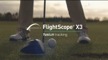 Video advertisement demonstrating the Flightscope X3 launch monitor's fusion tracking technology