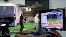DaTraks CEO Kevin Davidson giving a testimonial for Flightscope's baseball tracking radar, Strike