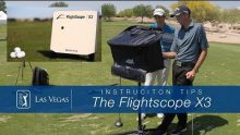 Video tutorial demonstrating how to use the Flightscope X3 launch monitor to improve clubhead path
