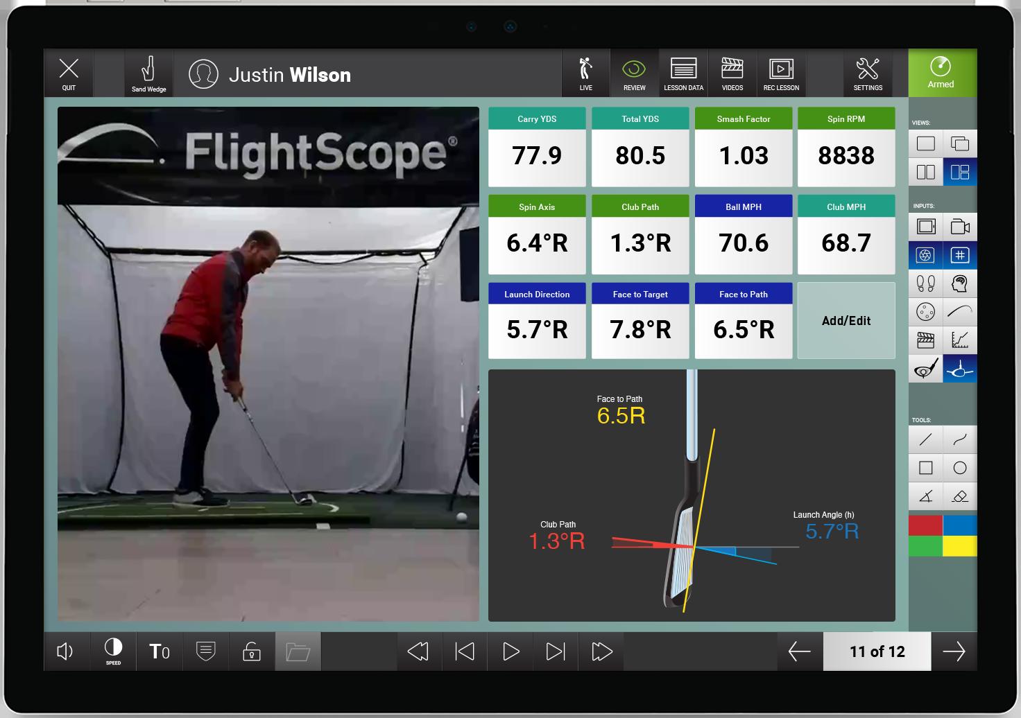Video App Launch Monitor Golf Ball Tracking Golf