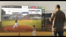 Video advertisement showing Flightscope's portable launch monitor Mevo's use in baseball games