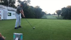 Bryson DeChambeau using Flightscope X3's launch monitor to prepare for the BMW Championship