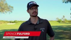 PGA player Spence Fulford talking about how he uses a FlightScope golf launch monitor to test shafts.